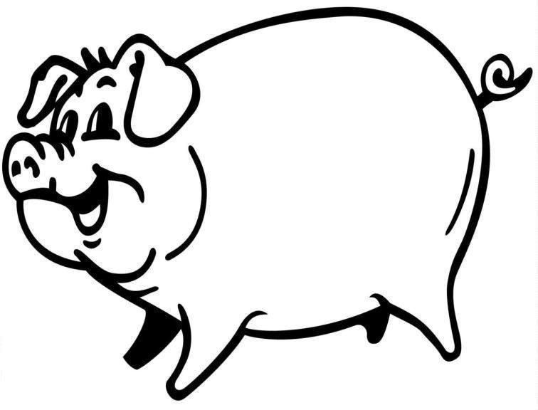 1001 MALVORLAGEN : Tiere >> Schwein >> Schwein Malvorlage