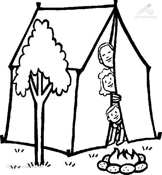 Sommerferien Zelt