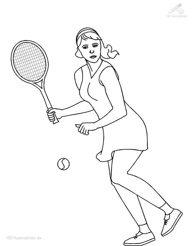 Tennis Malvorlage