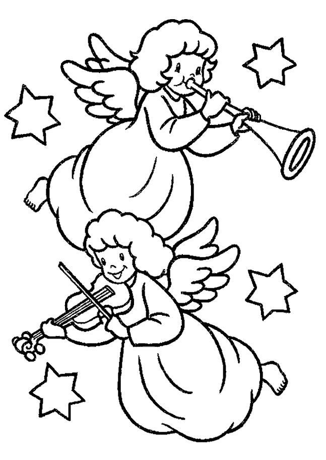 Malvorlage Weihnachts engel