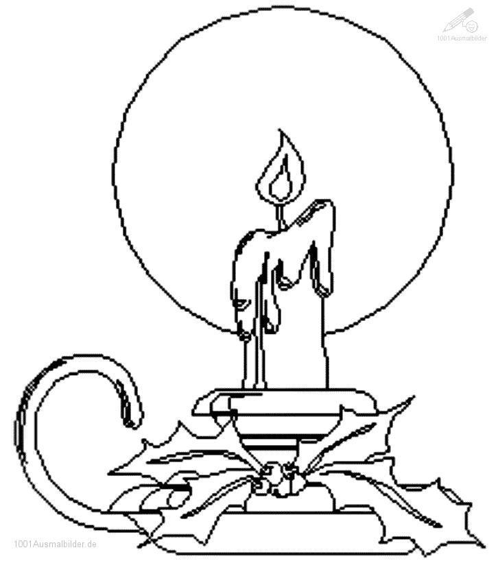 Malvorlage Weihnachts Kerze