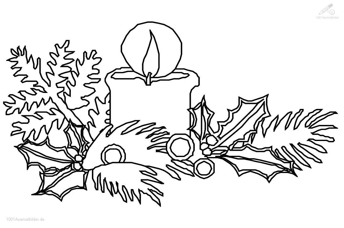 malvorlage: malvorlage-weihnachts-kerze-6