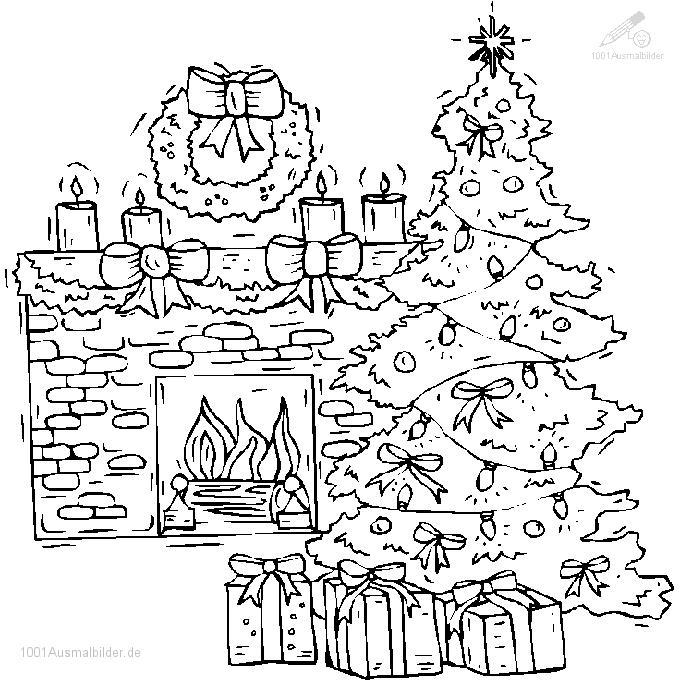 Malvorlage Weihnachtsbaum