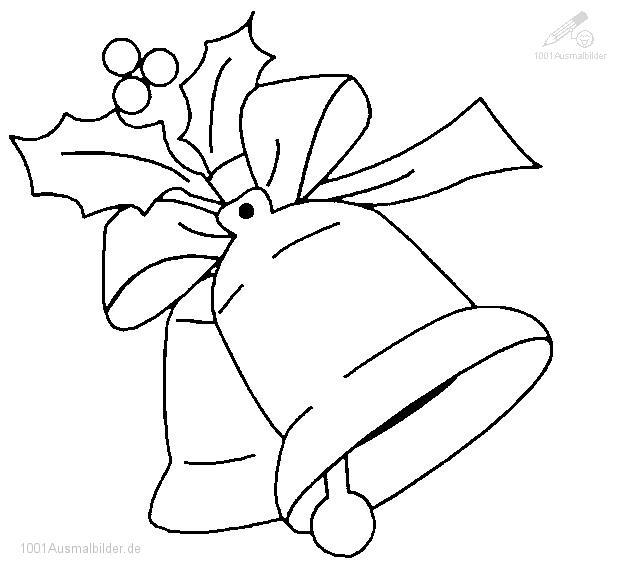 Malvorlage Weihnachtsglocke