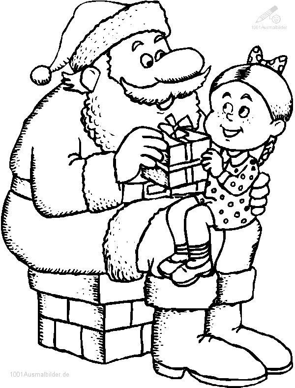 Malvorlage Weihnachtsmann