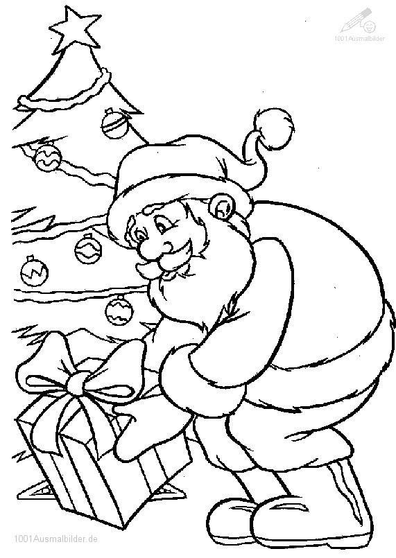 1001 Malvorlagen Weihnachten Weihnachtsmann Weihnachtsmann