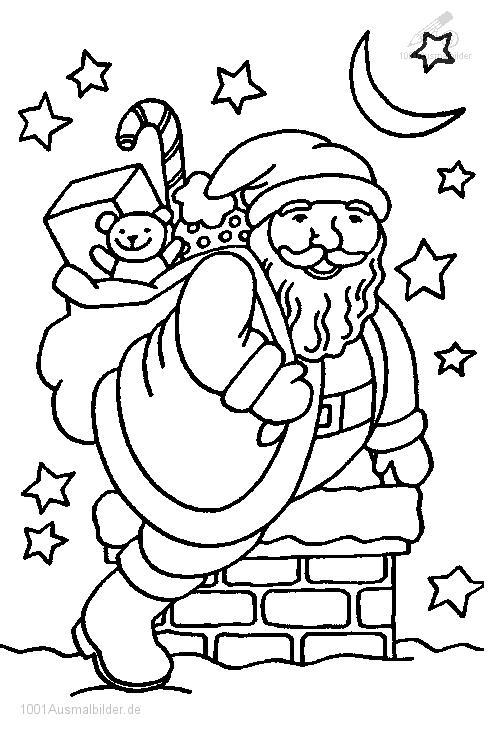 1001 Malvorlagen Weihnachten Weihnachtsmann Malvorlage
