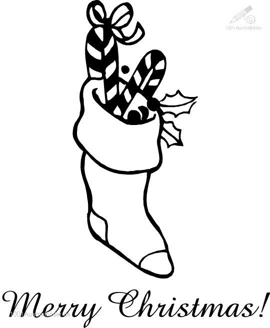 Malvorlage Weihnachts socke