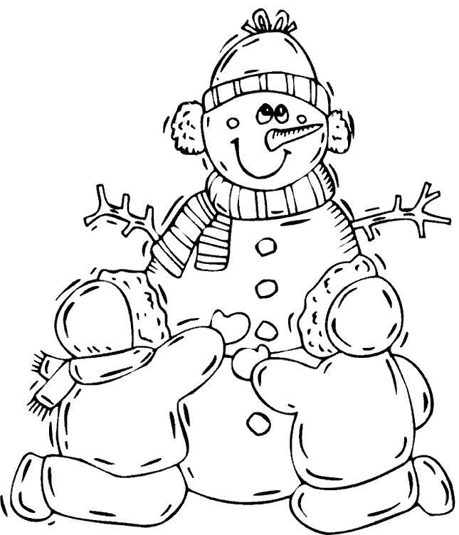 malvorlage: malvorlage-winter-schnee