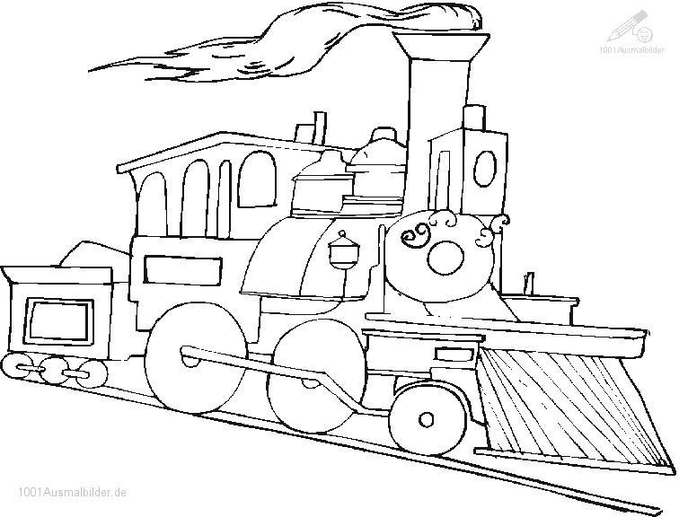 Malvorlage Zug